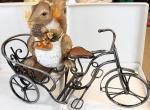 Article baptême pour marraine : écureuil sur tricycle