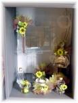 Article baptême fantaisie : Fiole et fleurs décoratives