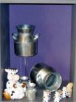 Article baptême fantaisie : Vache et pot de lait décoratifs