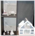 Article baptême fantaisie : Maison et figurine décorative