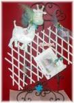 Article baptême artisanal en céramique : cadre photo