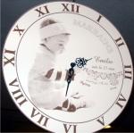 Article baptême artisanal : Horloge personnifiée